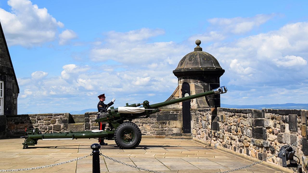 Bilder Edinburgh Kanone Soldaten Schottland Städte Soldat