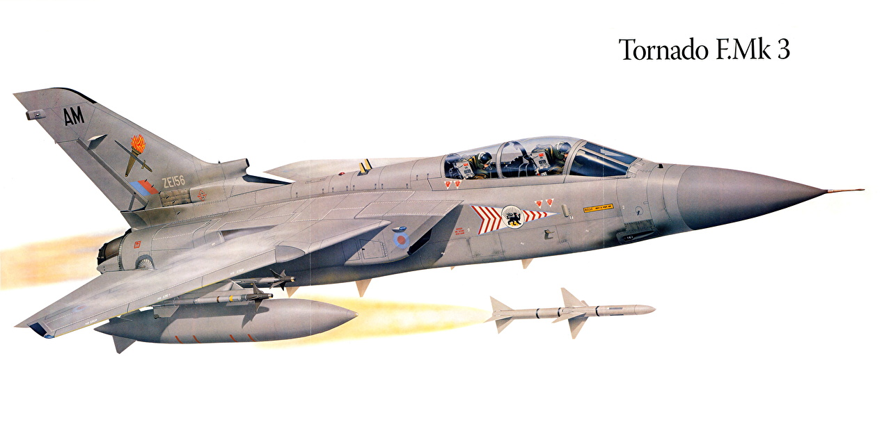 Picture Fighter Airplane Airplane Tornado F.Mk 3 Painting Art Aviation Fighter aircraft
