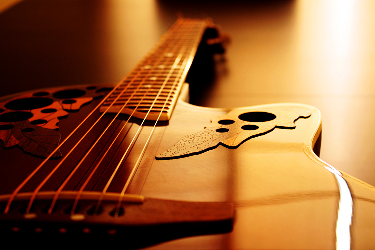 Wallpaper Guitar Music Closeup