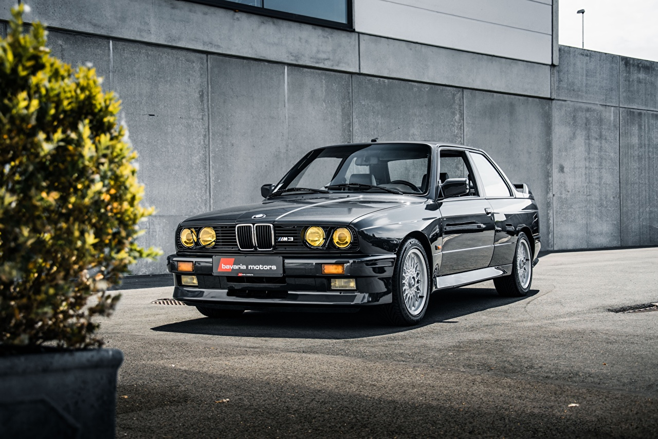 Desktop Wallpapers BMW E30 3-Series M3 Coupe Black Cars auto automobile