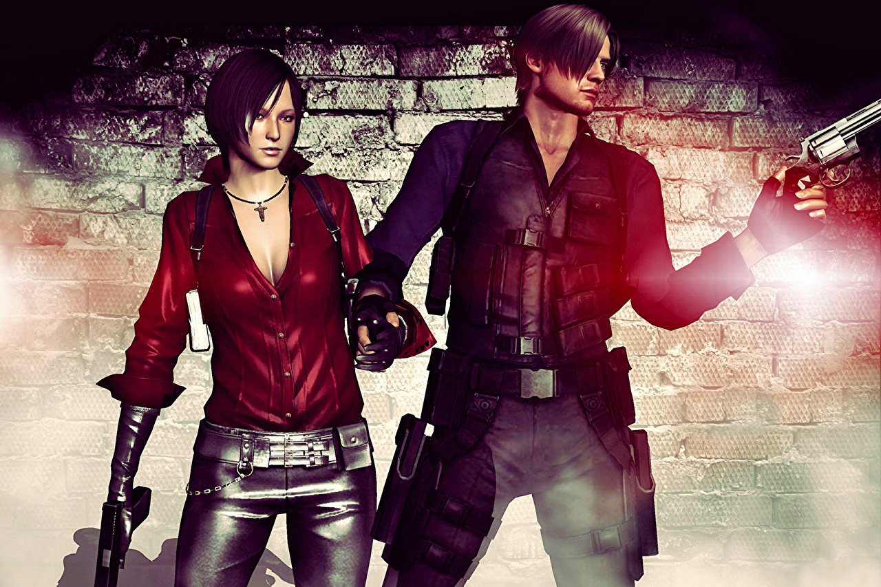 Desktop Wallpapers Young Woman Resident Evil Resident Evil 6 Man