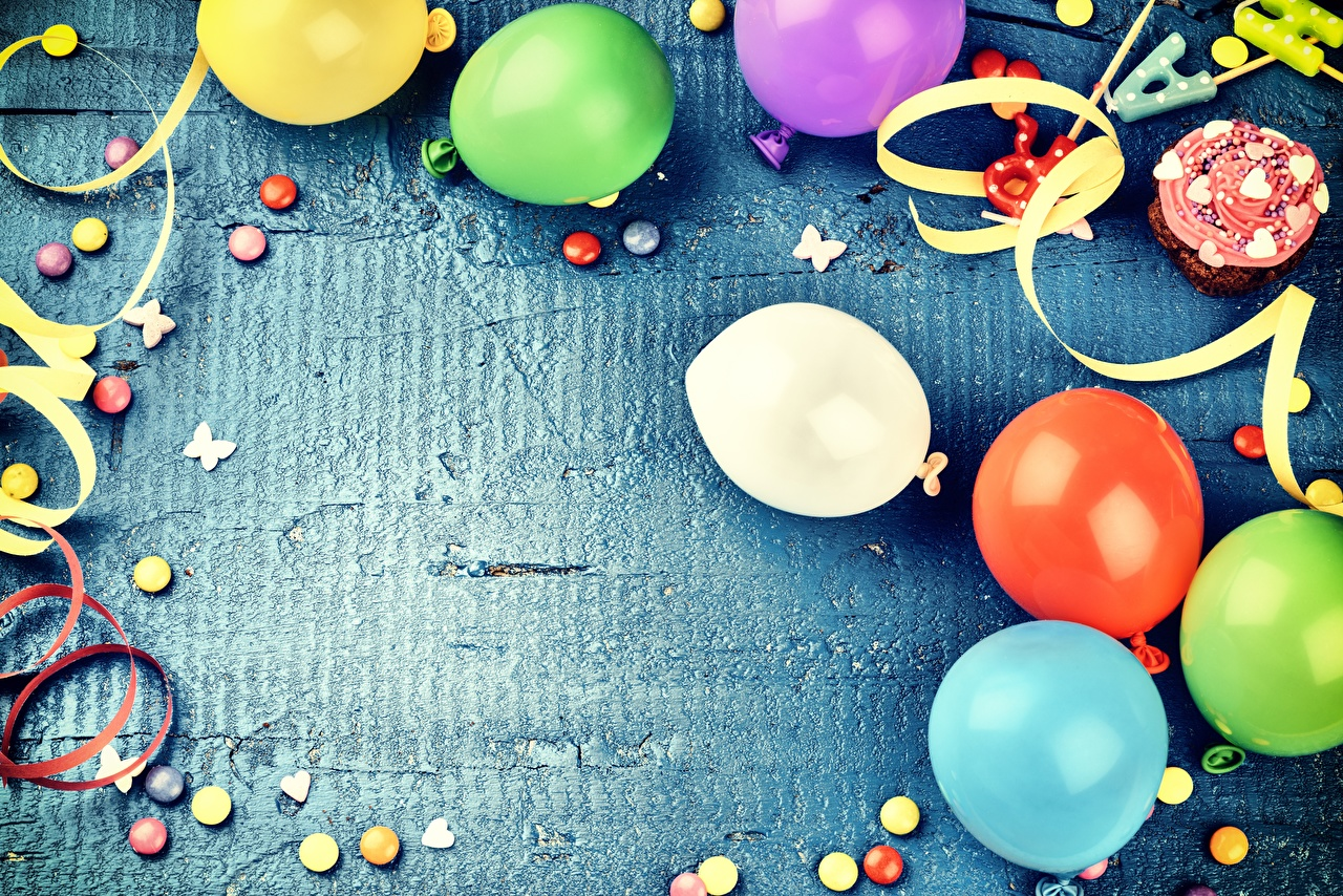 Photo Birthday balloons Template greeting card Holidays Toy balloon