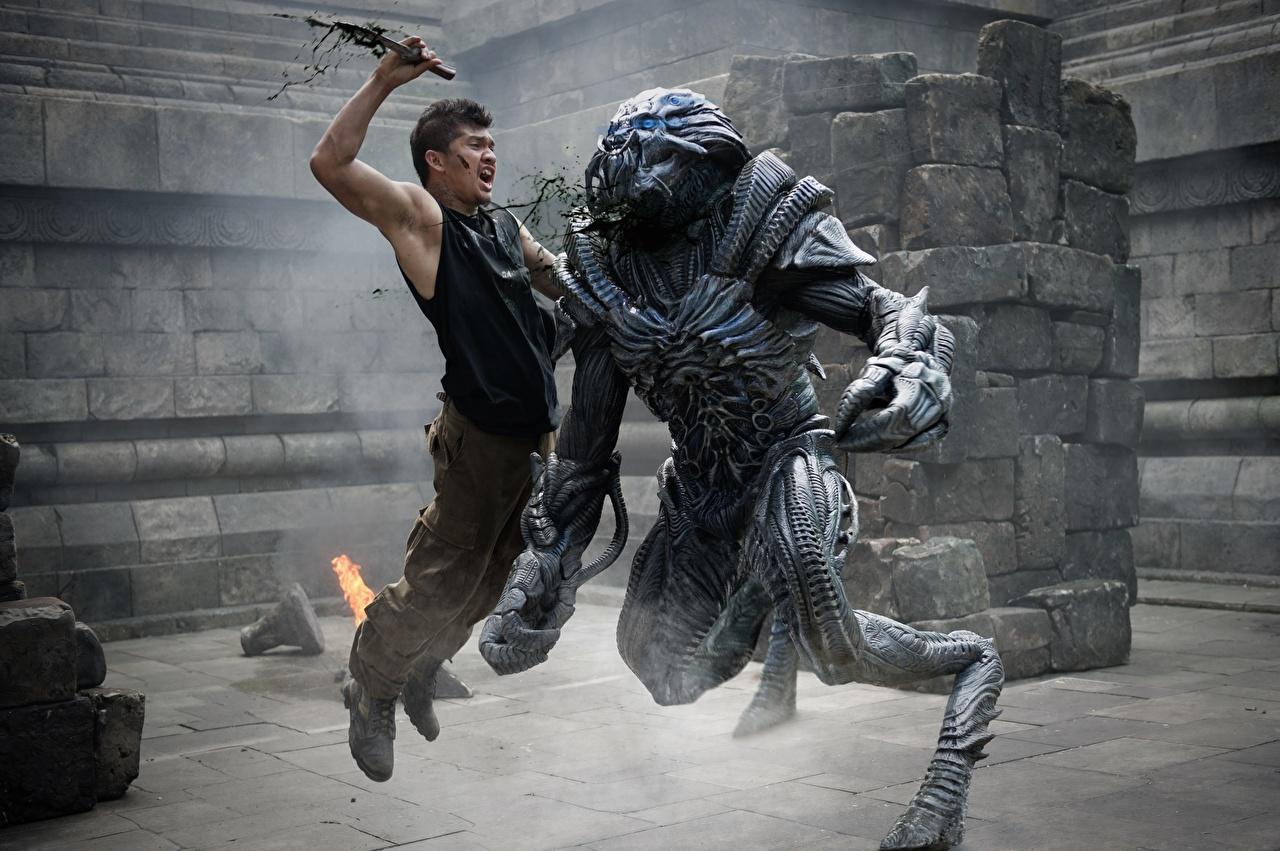 Faca Homem Beyond Skyline Iko Uwais Lutar Tipologia extraterrestre Filme