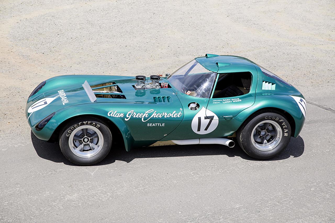 Photo Chevrolet 1963-65 Cheetah Coupe vintage Metallic automobile Retro antique Cars auto
