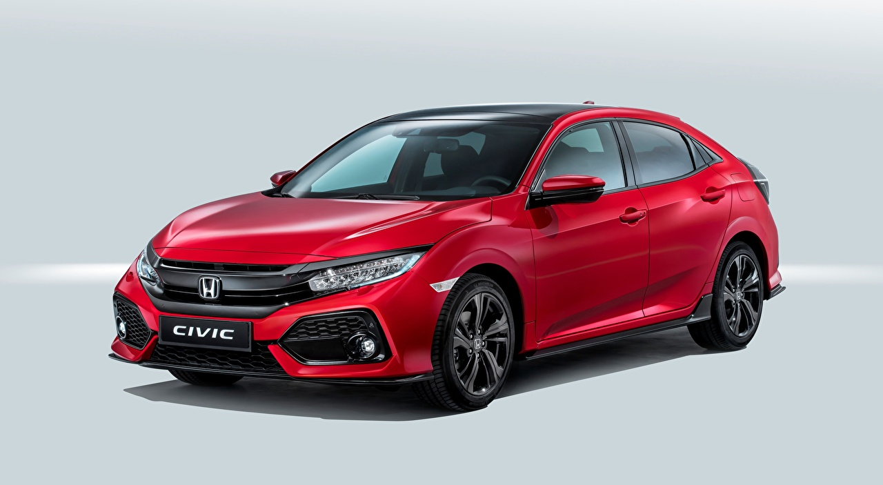 Wallpaper Honda Civic, Hatchback, 2016 Red Cars auto automobile
