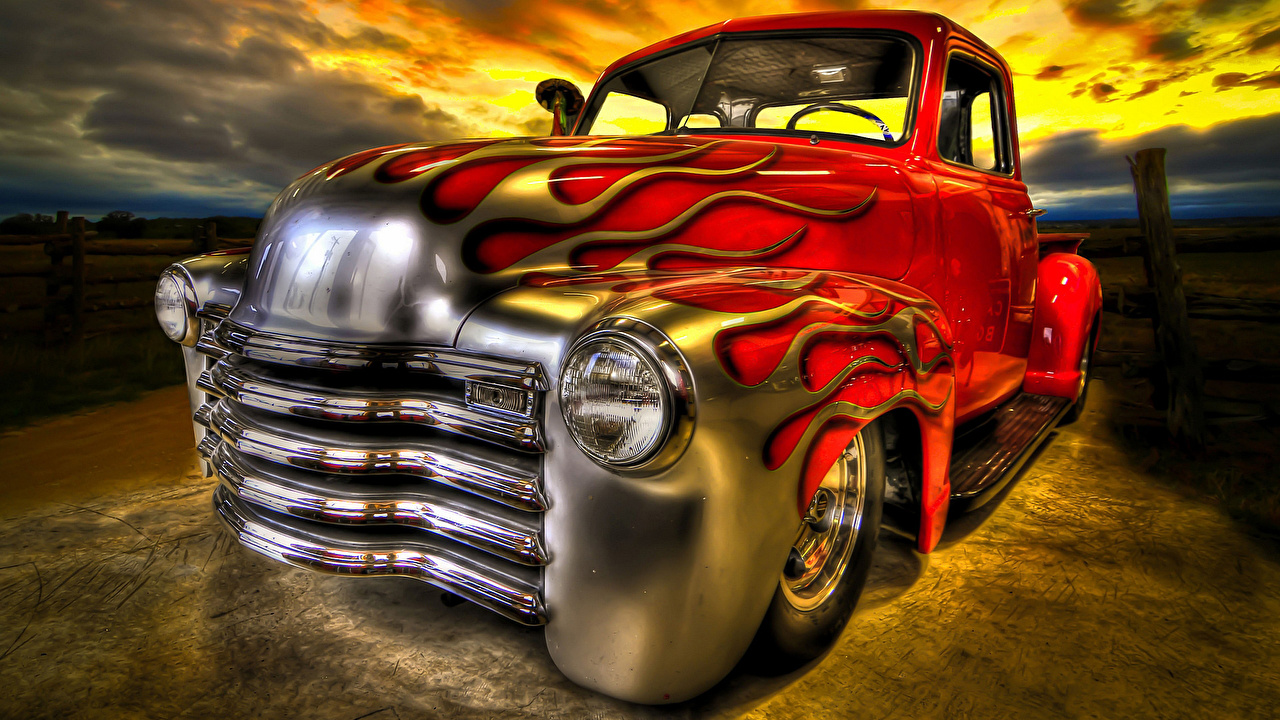 Images Tuning HDR antique Cars Headlights HDRI Retro vintage auto automobile