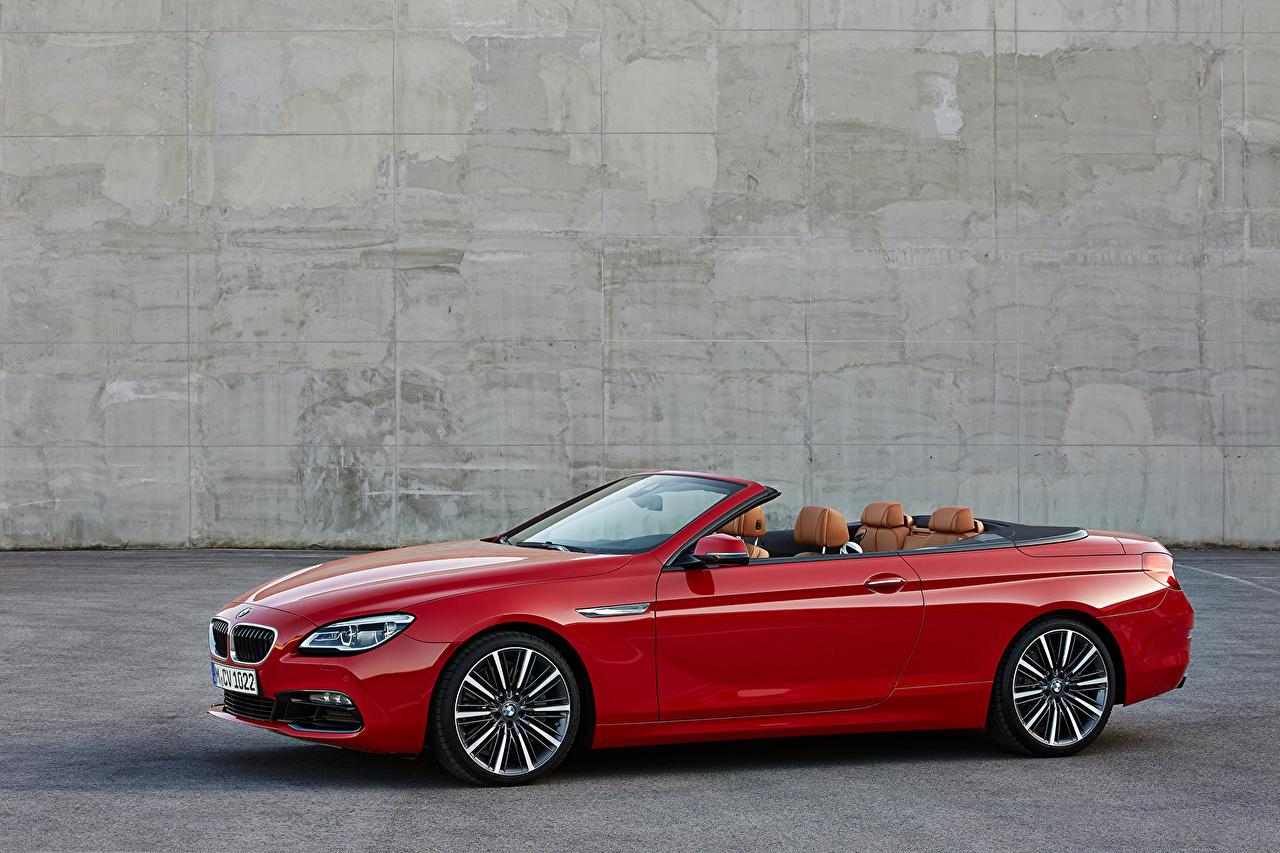 Wallpaper BMW 2015 M6 Cabriolet dark red Cars Metallic Convertible maroon burgundy Wine color auto automobile