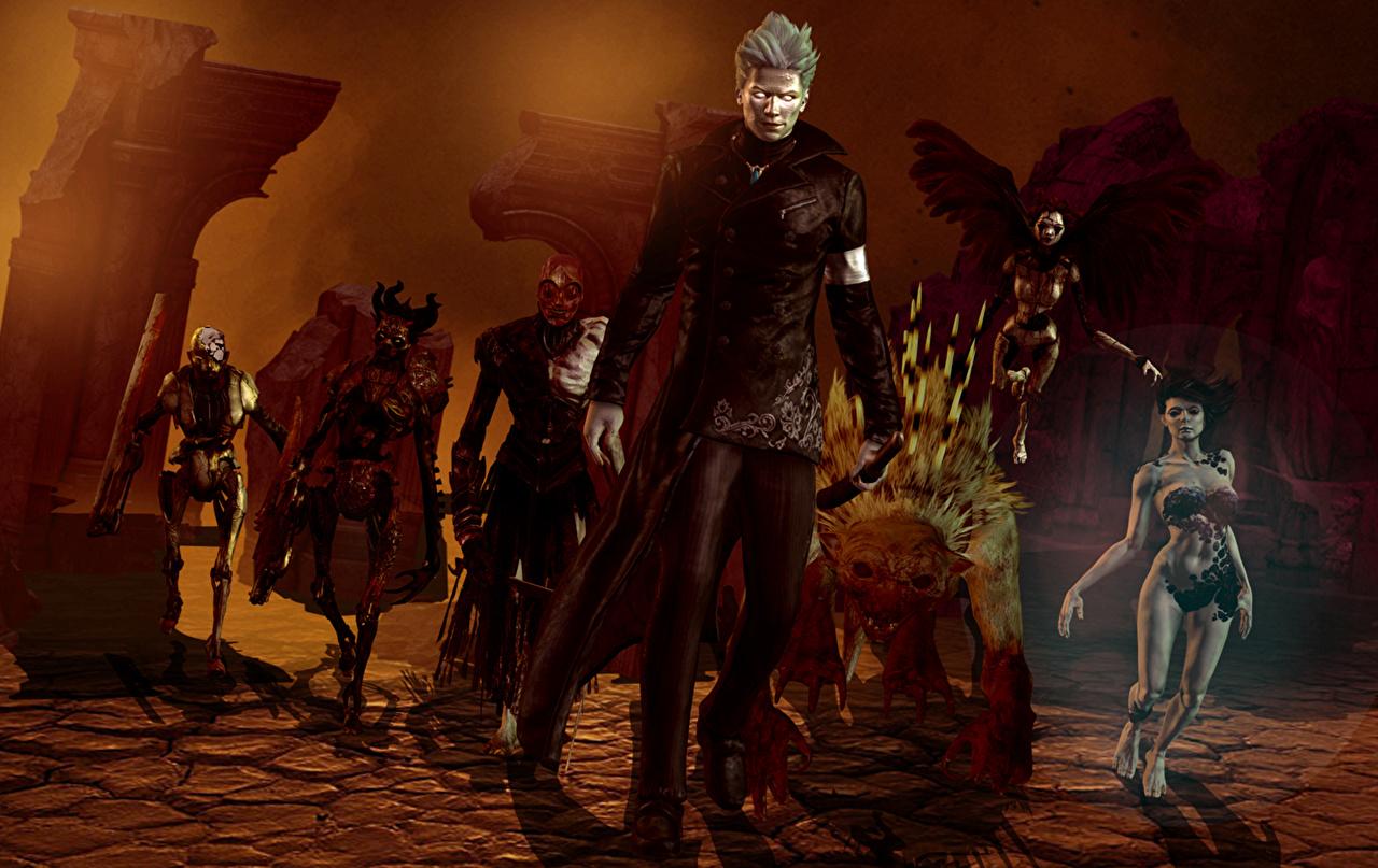 Devil May Cry Monstros Demônios Homem Morto-vivo videojogo, monstro, demónio Jogos 3D Gráfica Fantasia