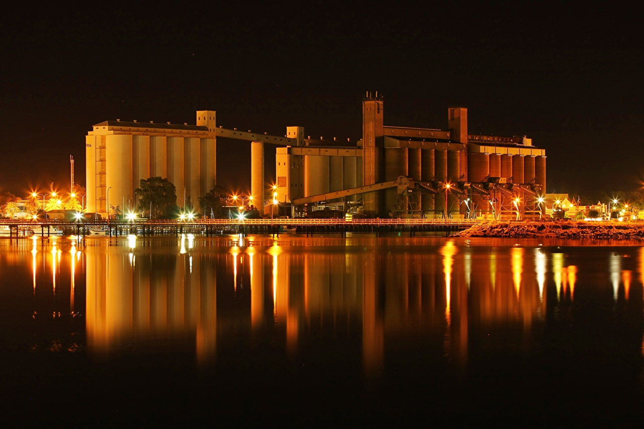Desktop Wallpapers Australia Port Augusta, Spencer Bay Night Cities night time