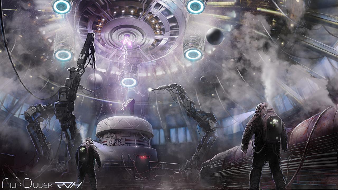 Desktop Wallpapers Men Fantasy Fantastic world Technics Fantasy Man