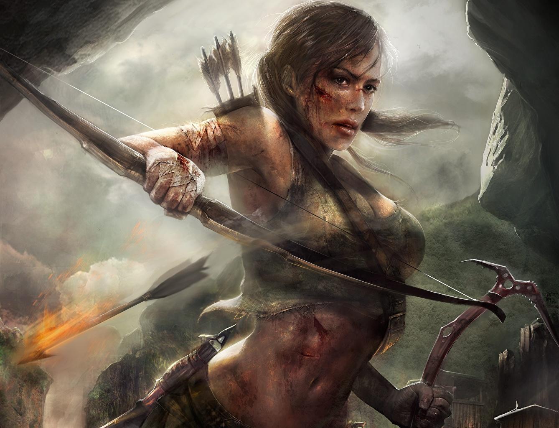 Picture Tomb Raider Tomb Raider 2013 Archers Lara Croft Warriors