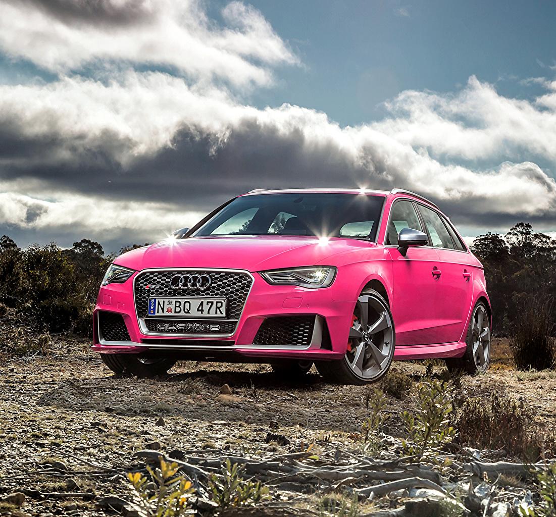 Fonds d'ecran Audi RS 3 Rose couleur Voitures télécharger photo