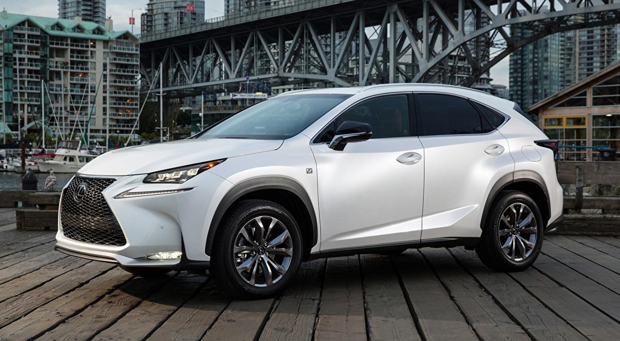 Images Lexus CUV NX, 200t F SPORT, CA-spec, 2014 White Side Cars Crossover auto automobile
