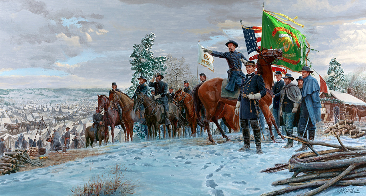 Images Mort Kunstler Soldier General Meagher And The Irish