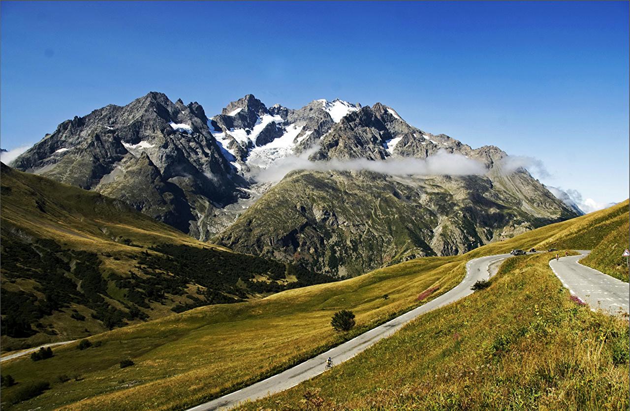 France Montagnes Routes Photographie de paysage Prairies Col du Galibier montagne Nature