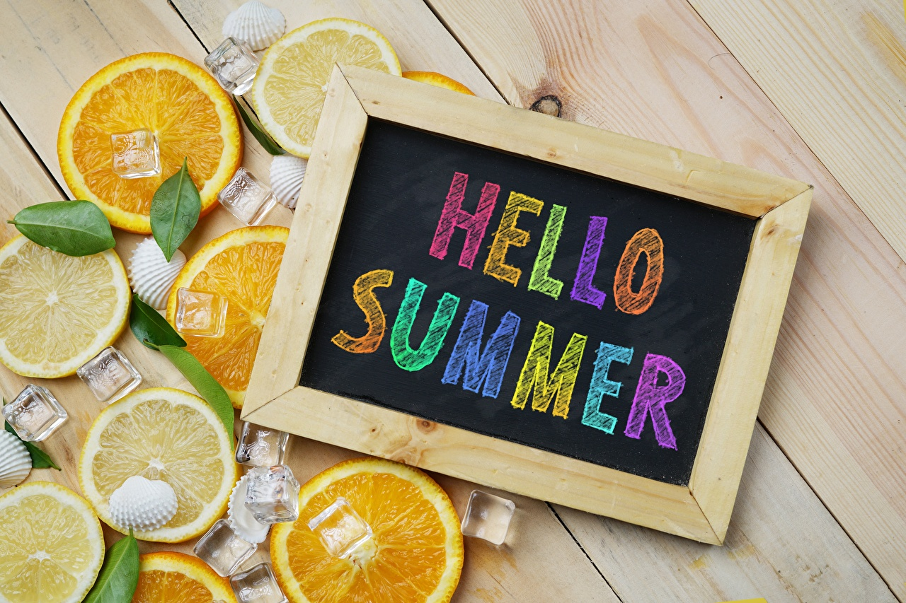 Photos English Summer Orange fruit lettering text Word - Lettering