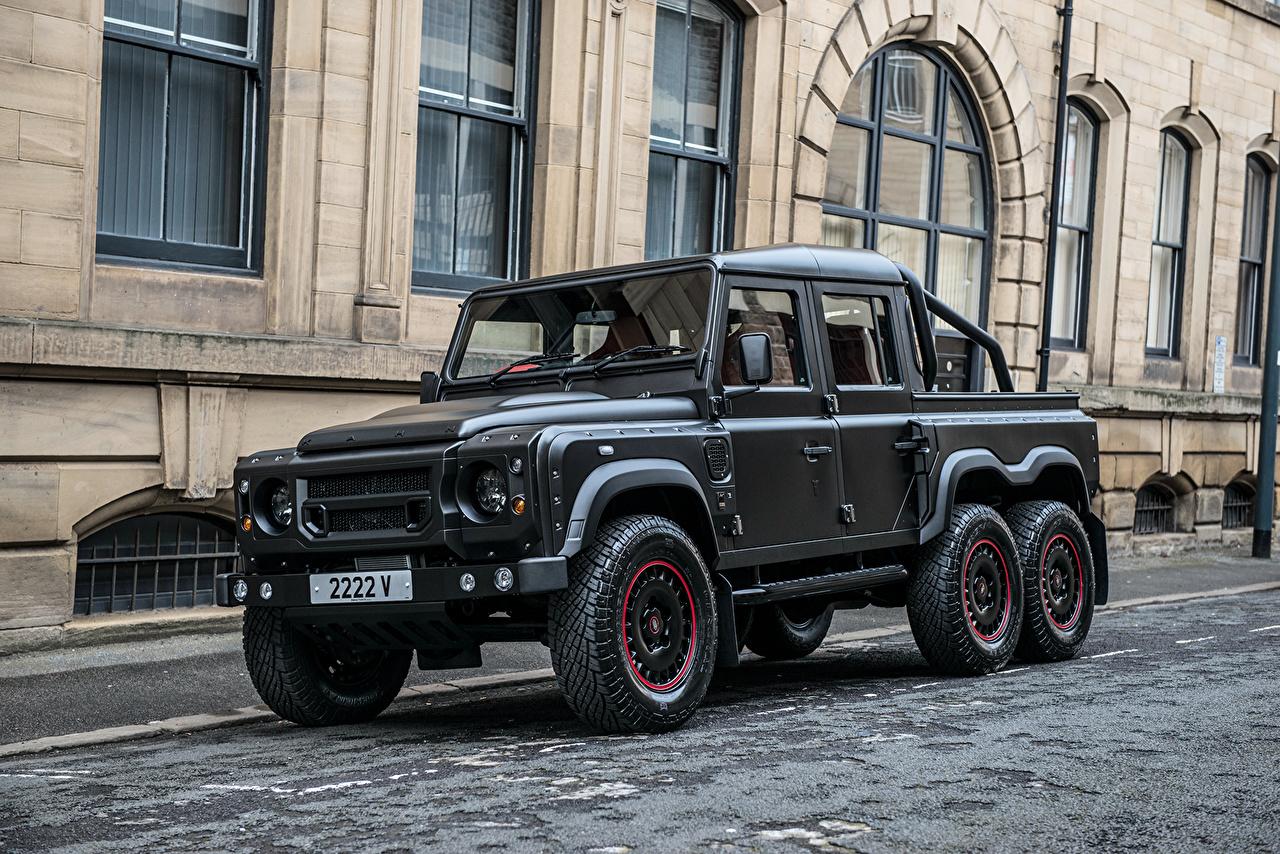 Sfondi Land Rover Defender Project Kahn Nero Auto macchine macchina automobile autovettura