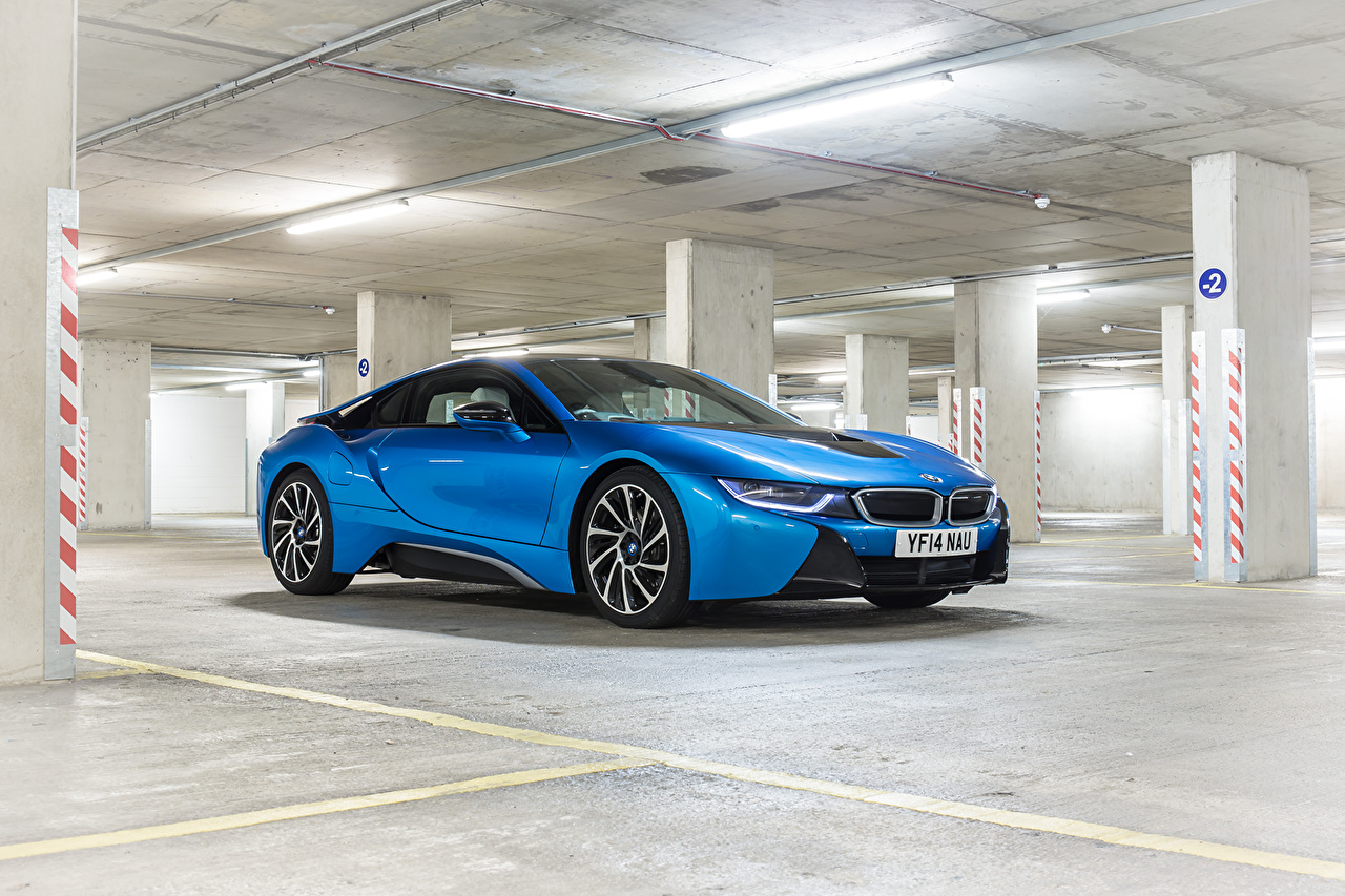 Fotos von BMW 2014 i8 Hellblau auto Autos automobil