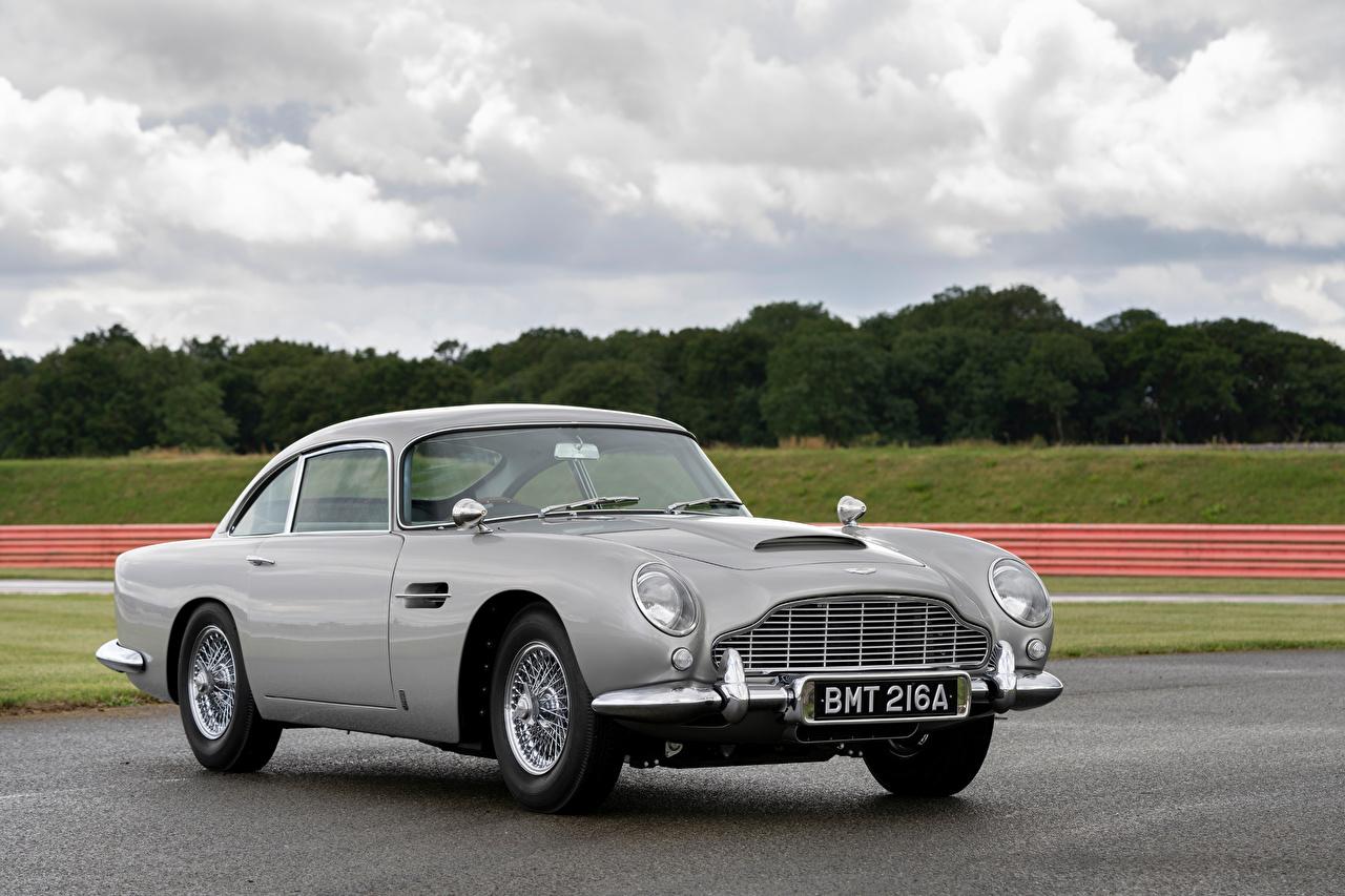 Skrivebordsbakgrunn Aston Martin DB5 Goldfinger Continuation Grå Biler Metallisk bil automobil