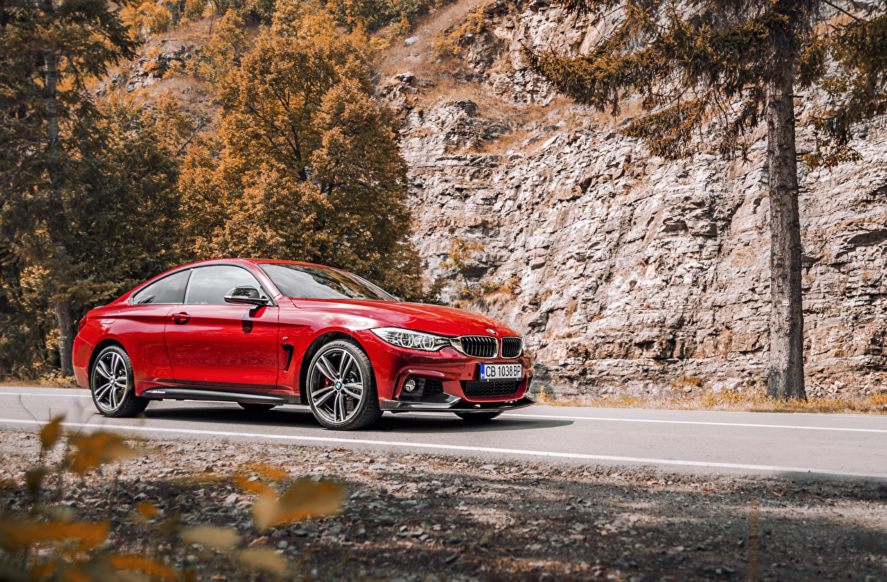 Wallpaper BMW 2016 440i Coupe xDrive M Performance Red Edition Metallic automobile Cars auto