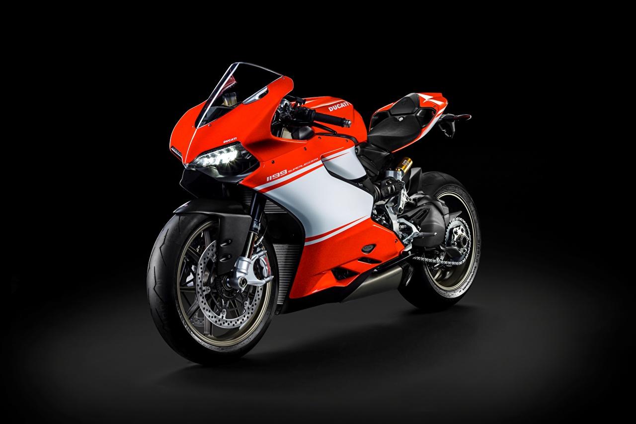 Photo Ducati Superleggera, 1199 Motorcycles Side Black background motorcycle