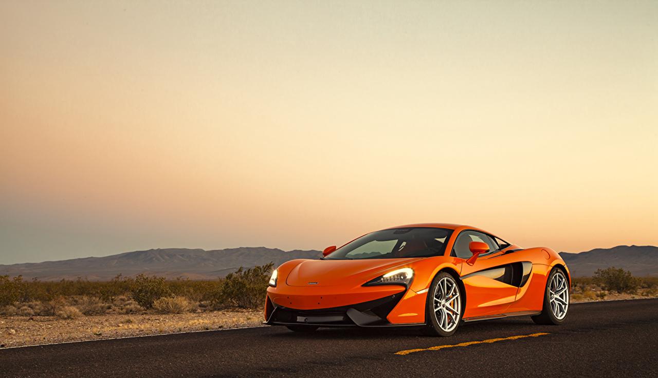 Wallpaper McLaren 2015, 570S Orange auto Cars automobile