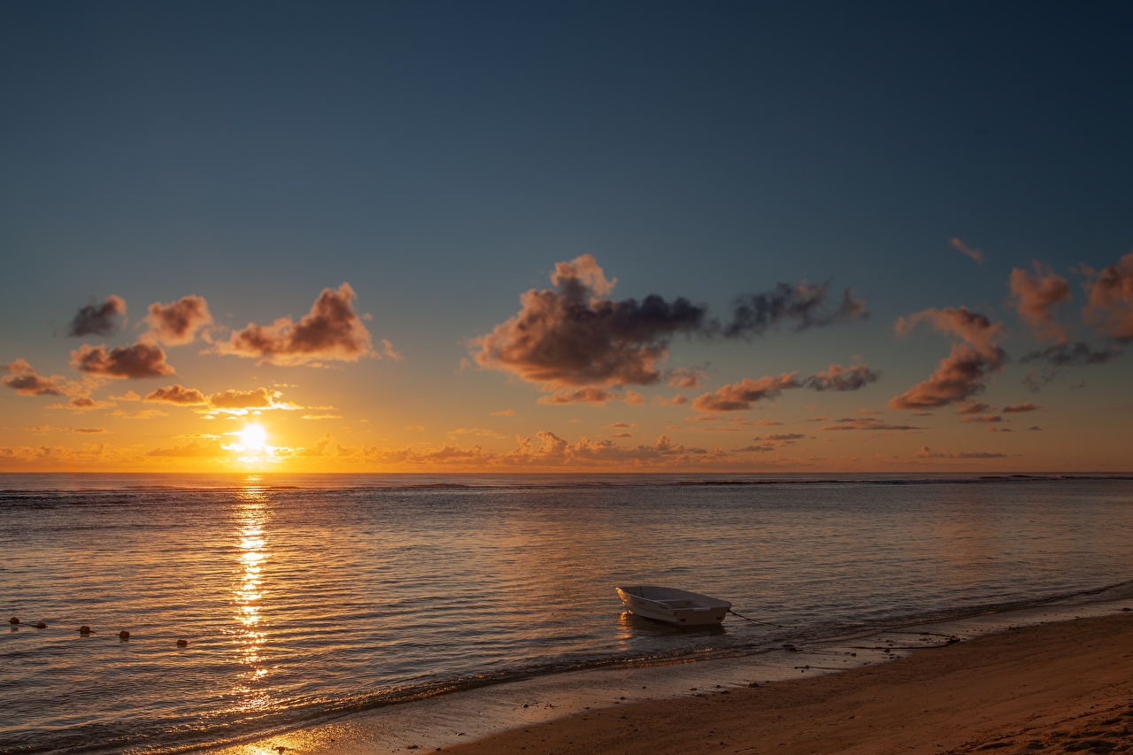 Pictures Beach Sea Sun Nature Sunrise And Sunset Boats