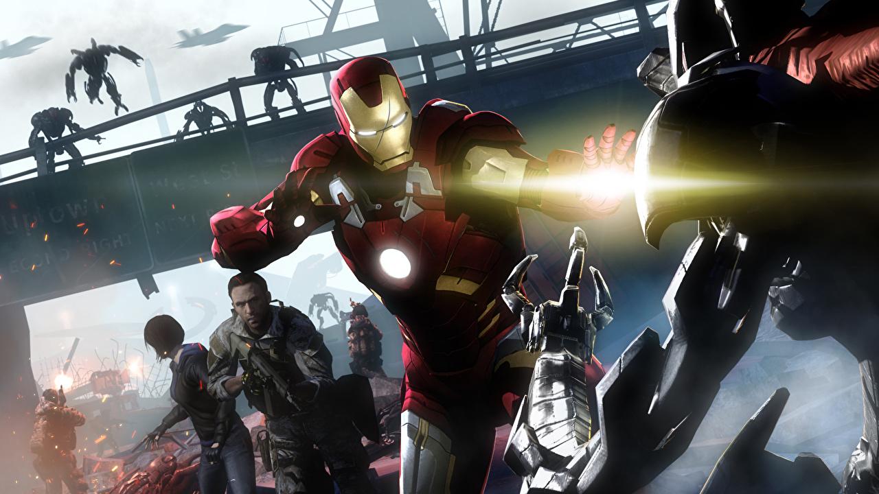 Wallpaper Armor superheroes Iron Man hero Fantasy 3D Graphics