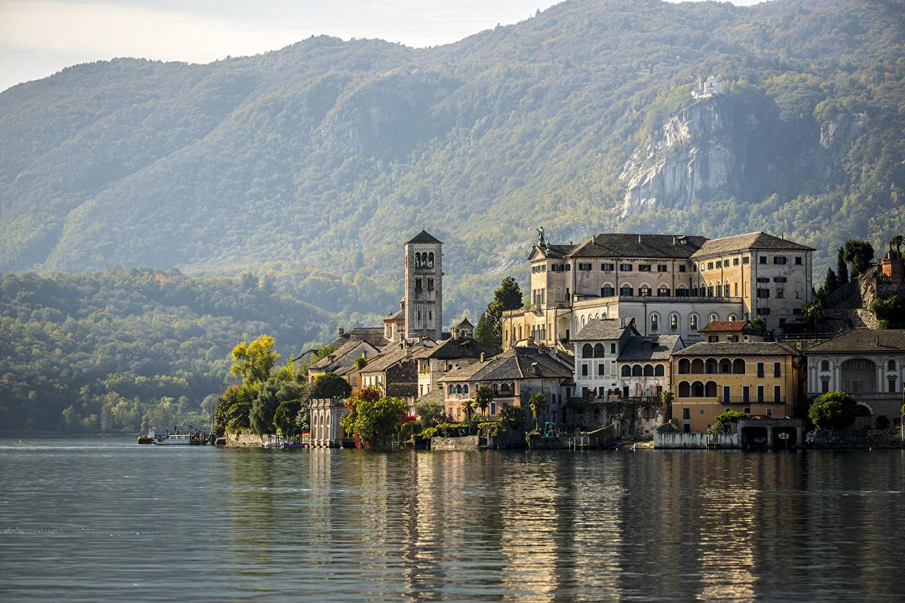 Photos Italy Horta-San Giulio, Piedmont, Novara, lake Orta Mountains Lake Cities mountain