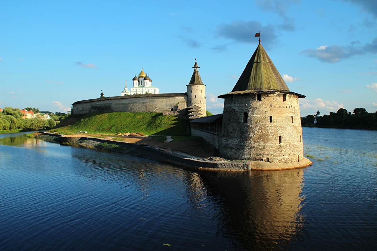 Image Russia Fortress Made of stone Cities Fortification