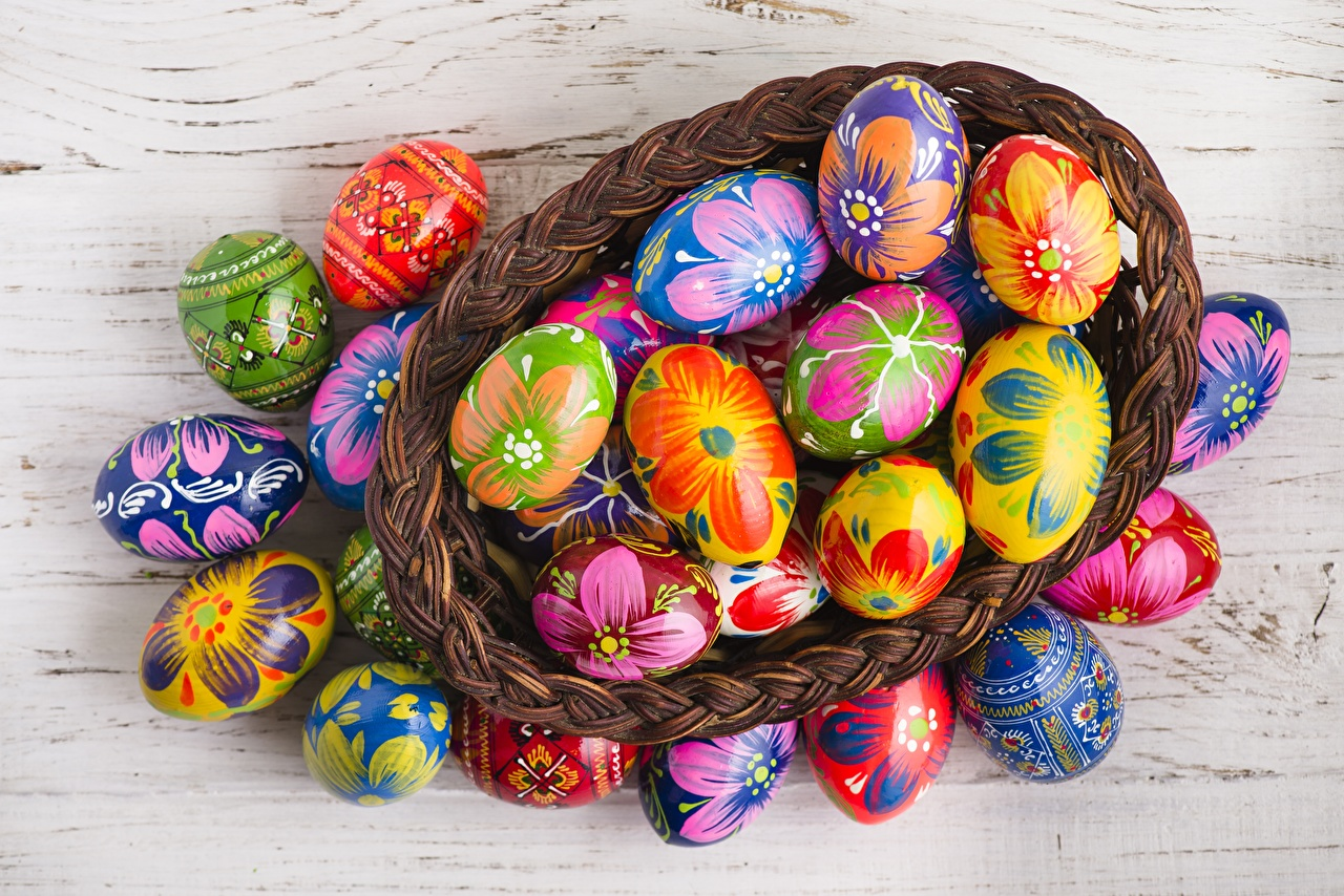 Fotos von Ostern Ei eier