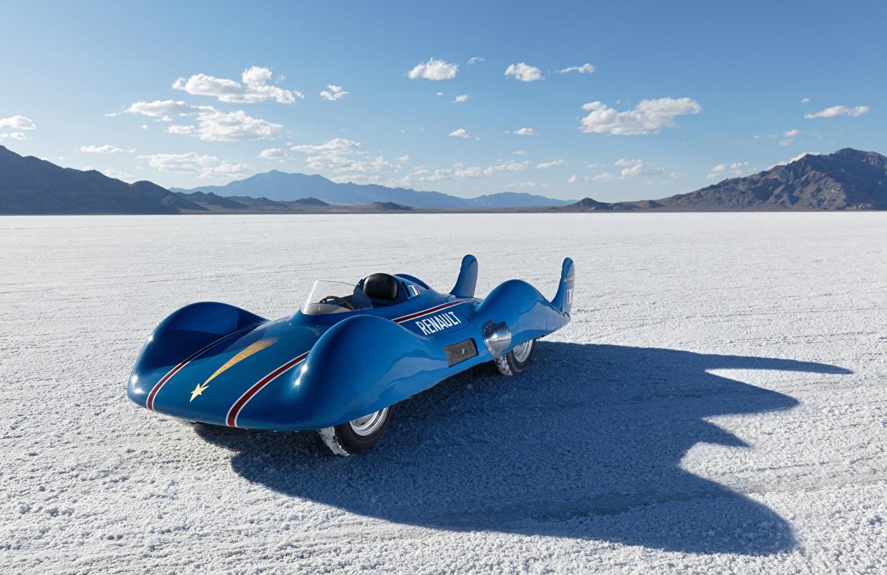 Bilder von Renault 1956 Etoile Filante Blau Sport Retro Autos Metallisch antik