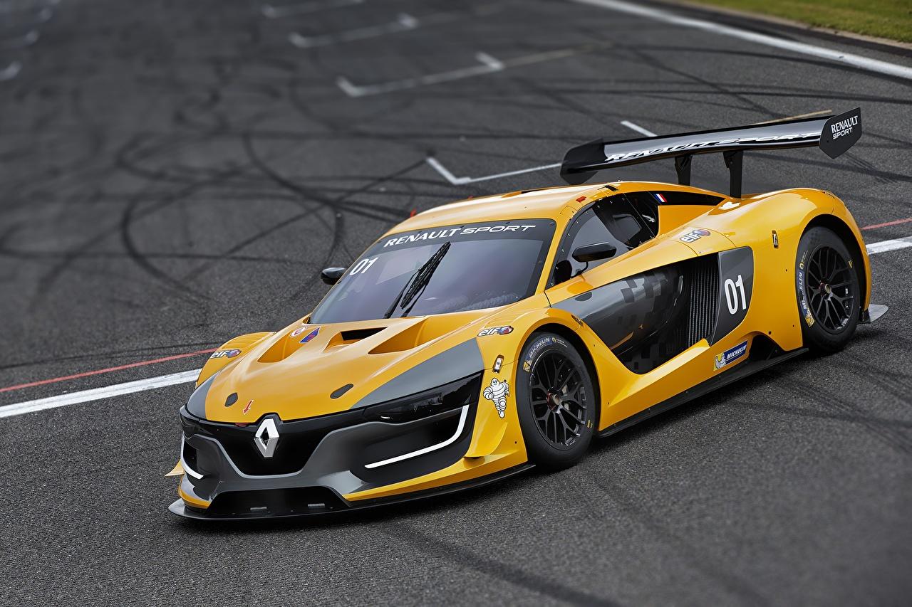 Fonds D'ecran Renault Sport RS Jaune Voitures Télécharger