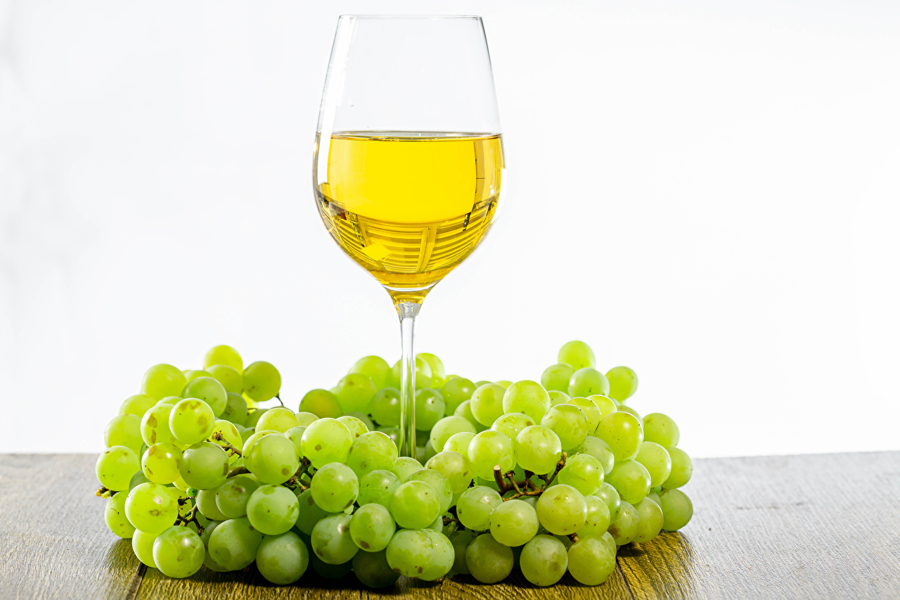 Pictures Wine Grapes Food Stemware