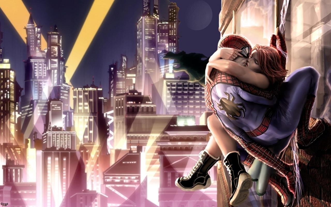 Tapeta superbohaterów Spider-Man superbohater Fantasy Bohaterowie komiksów
