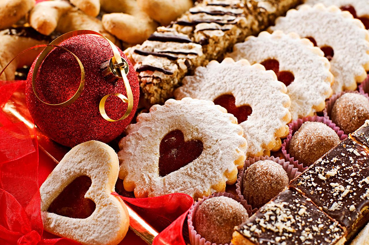 壁紙 ペイストリー クッキー キャンディ バレンタインデー ハート