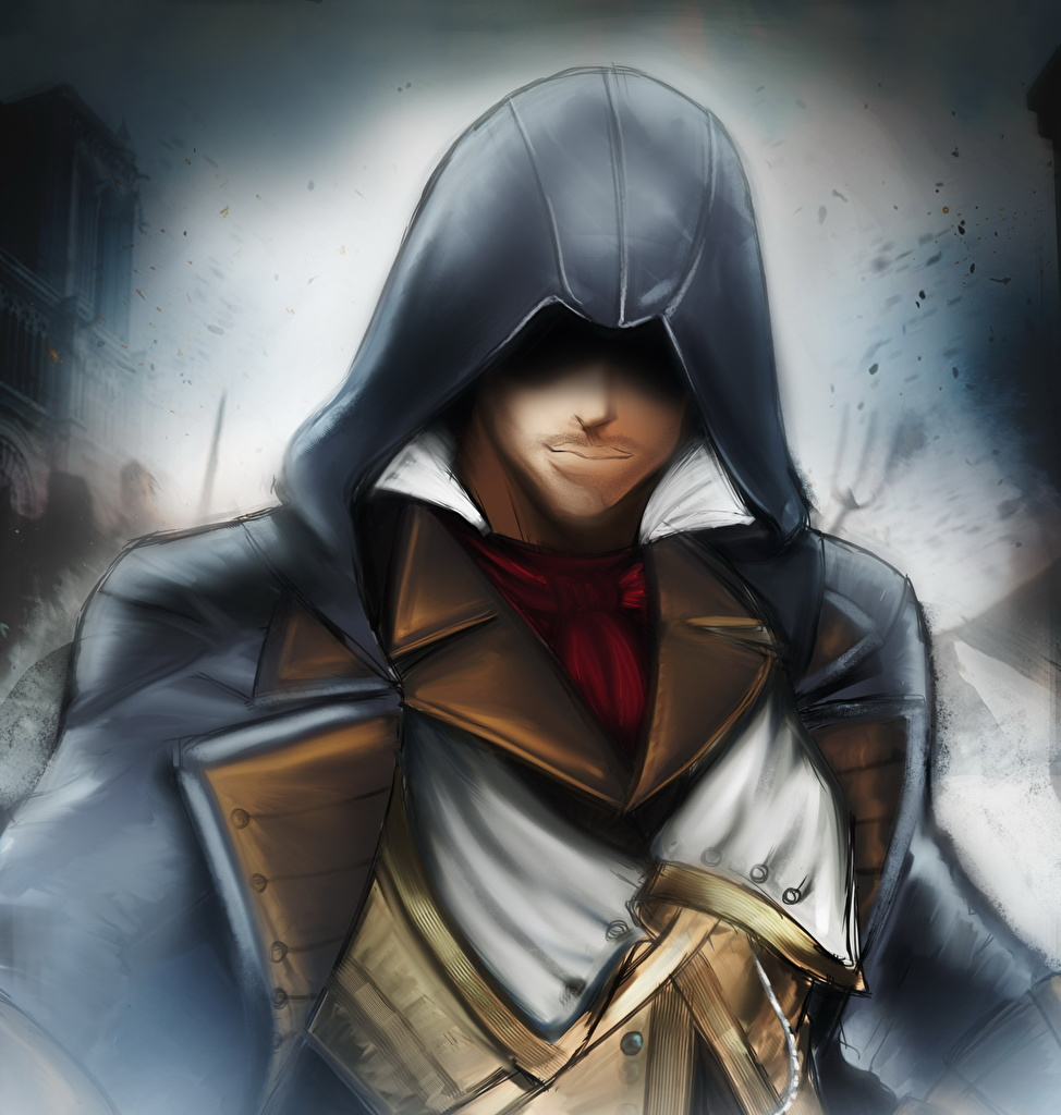 Images Assassin's Creed Unity Man Arno Dorian Games hooded  for Mobile phone Men vdeo game Hood headgear