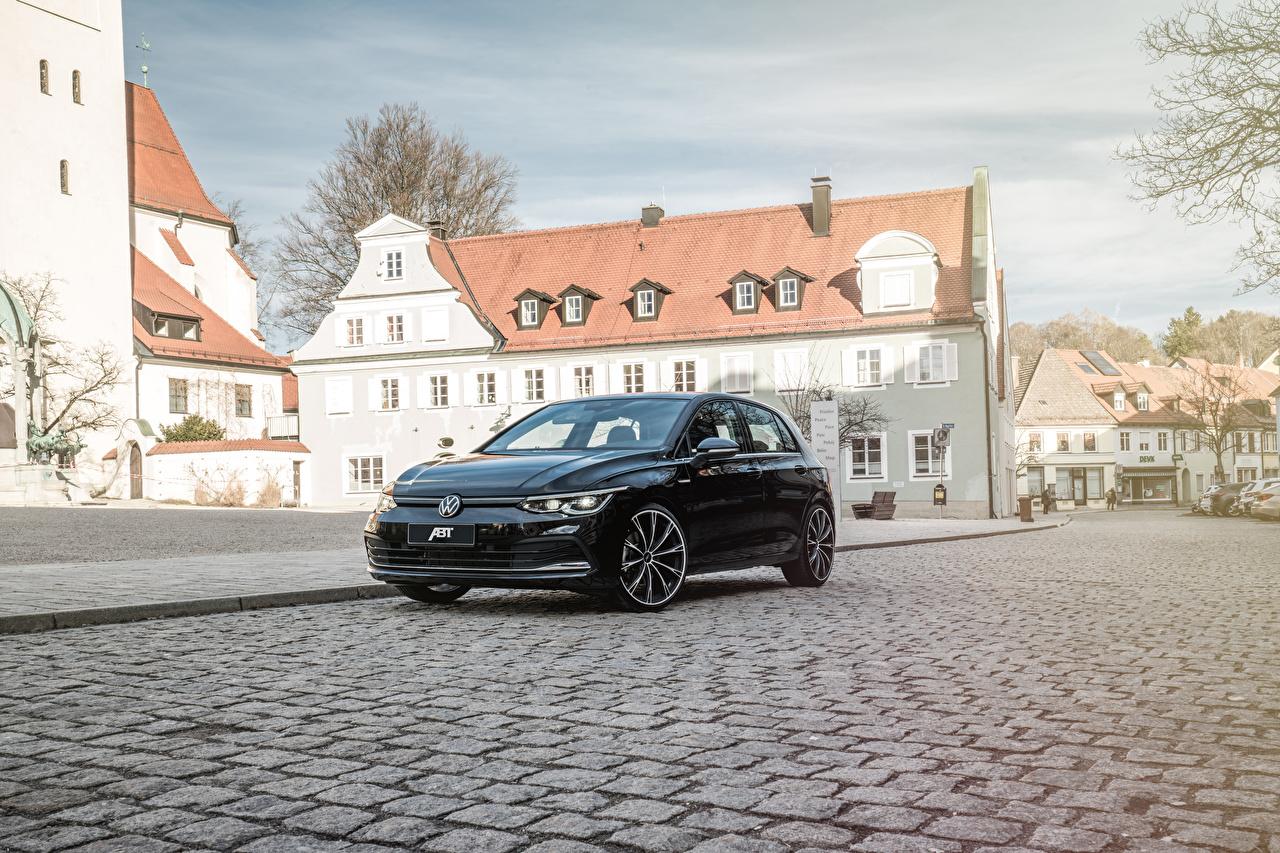 Pictures Volkswagen 2020 ABT Golf Black Metallic automobile Cars auto