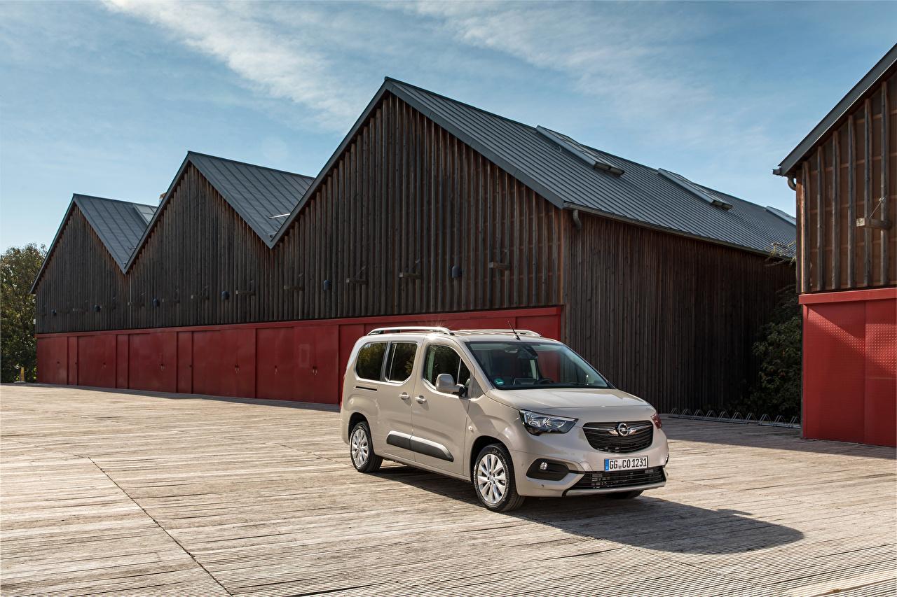 Desktop Hintergrundbilder Opel 2018-19 Combo Life XL Turbo D Ein Van automobil Metallisch auto Autos