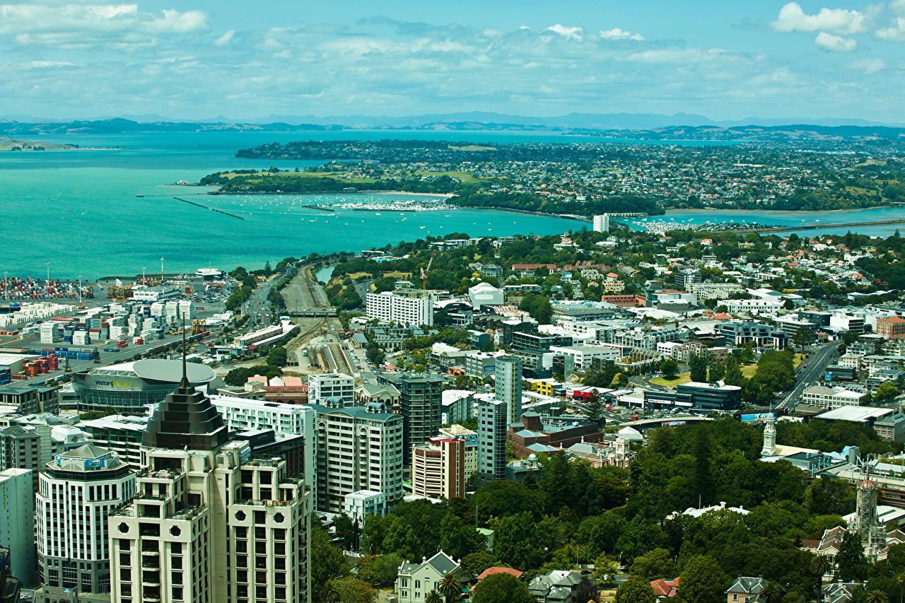Обои сверху, новая зеландия, auckland. Города foto 6