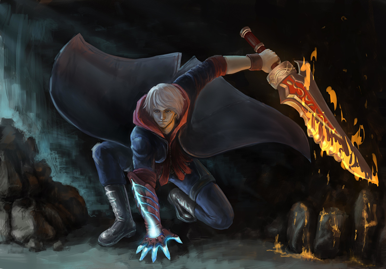 Fondos De Pantalla Devil May Cry 4 Guerrero Fuego Nero