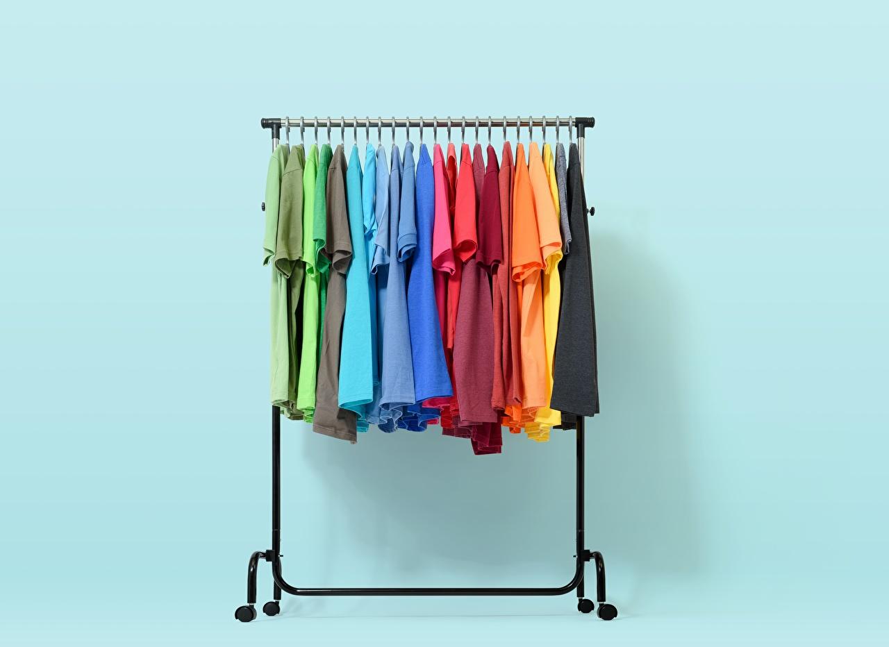 Foto rack Mehrfarbige T-Shirt Viel Bunte