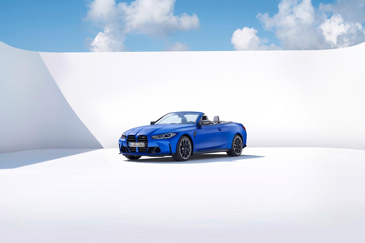 ,BMW,M4 Competition M xDrive Cabrio, (Worldwide), (G83), 2021,蓝色,金屬漆,敞篷车,汽车,