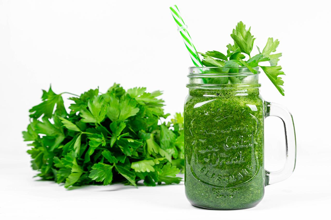 Images parsley Smoothie Mug Food Vegetables White background smoothy