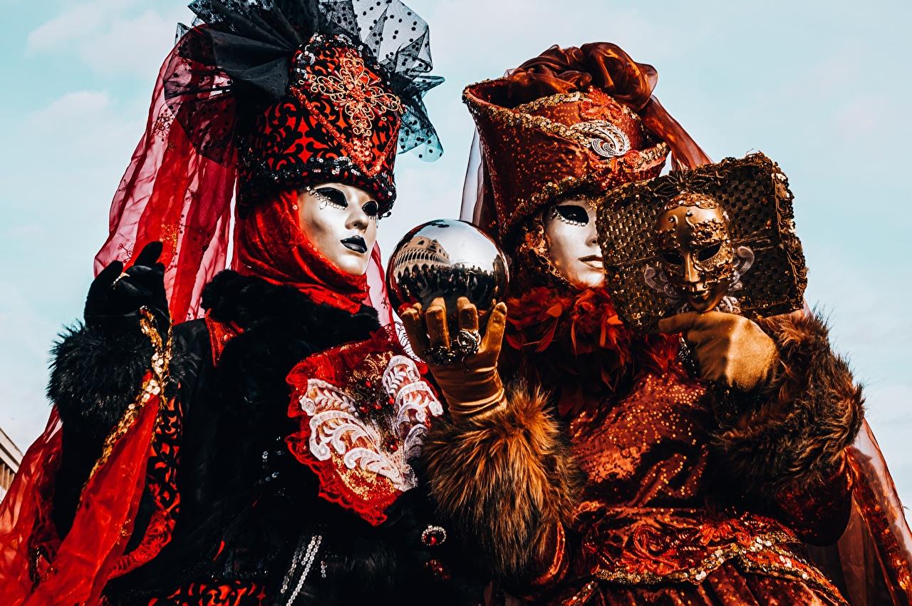 Máscara Carnaval y disfraces Dos Bolas Mano Guante 2