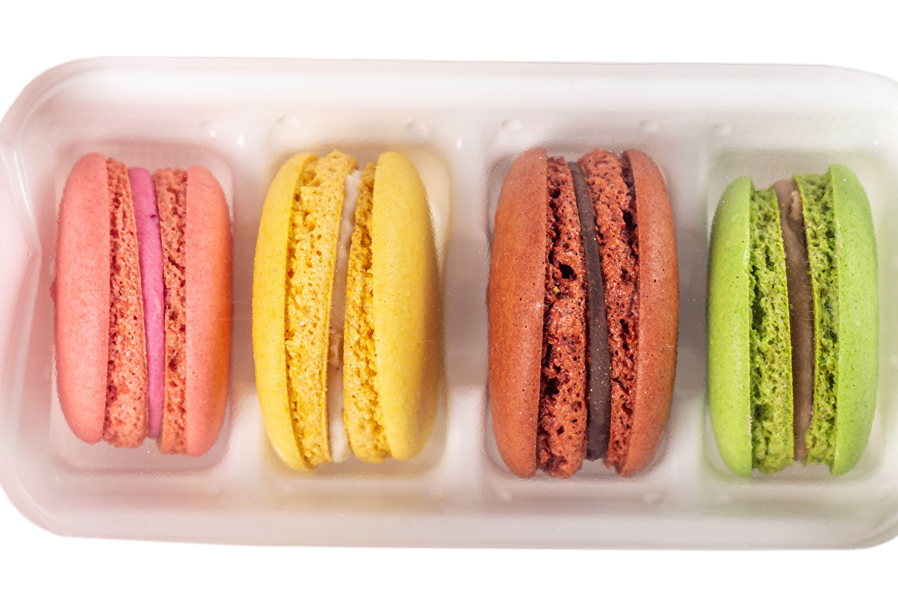 Pictures Macaron Multicolor Food Closeup french macarons
