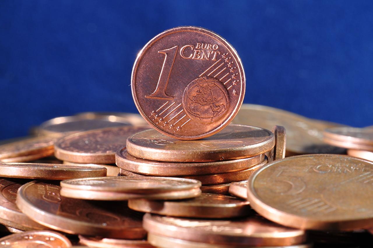 Wallpaper Euro Coins 1 cent Money