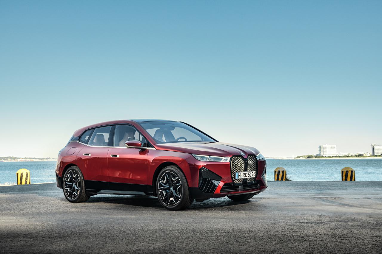 Photo BMW Crossover iX Sport, Worldwide, (i20), 2021 Red Metallic automobile CUV Cars auto