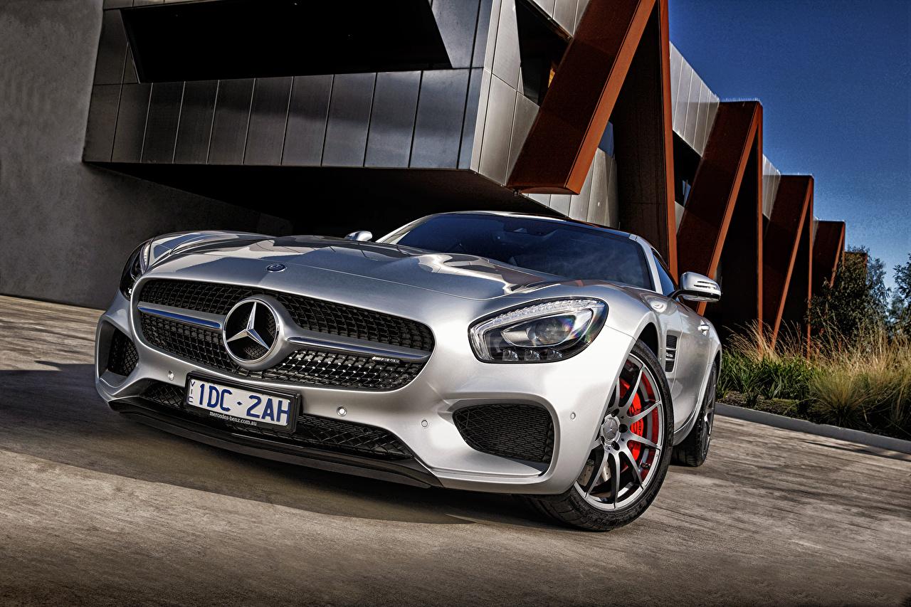 Fonds D Ecran Mercedes Benz Amg Gt S C190 Devant Argent
