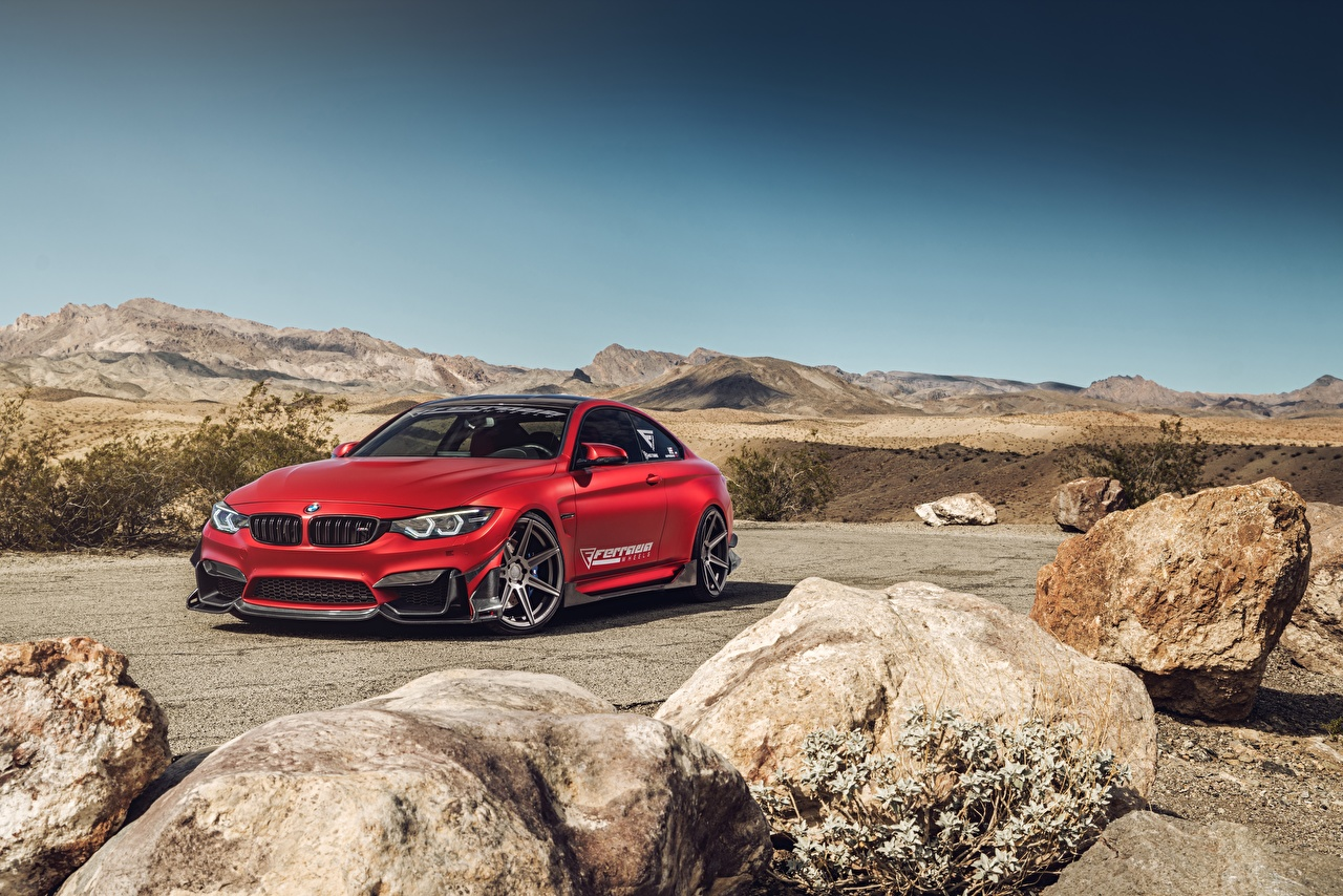 Picture BMW M4 Red Cars auto automobile